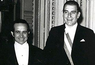 Andrés Zaldívar - Zaldívar, Minister of Finance for Eduardo Frei Montalva