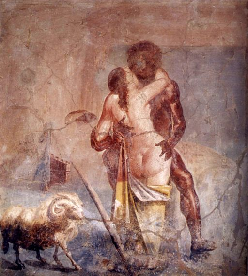 Fresco Polyphemus Galatea MAN Naples 27687