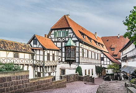 Front court of Wartburg Castle in Eisenach, Eisenach, Germany
