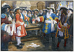 Frontenac receiving the envoy of Sir William Phipps demanding the surrender of Quebec, 1690.jpg