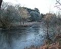 Frozen woodland pond - geograph.org.uk - 1103962.jpg