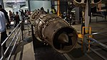Fuji type JO-1 turbojet engine left rear view at Modern Transportation Museum March 23, 2014 01.jpg