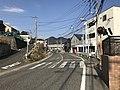 Fukuoka Prefectural Road No.504 and Mount Tachibanayama 2.jpg