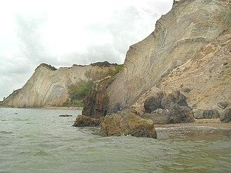 Fur (island) - Image: Fur cliffs