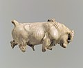 Furniture or cosmetic box plaque carved in the round with striding bull MET DP110587.jpg