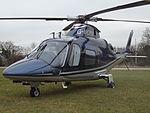 G-WOFM Agusta A109 Helicopter (25413086903).jpg