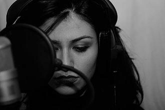 Gabriella Cilmi - Cilmi recording in London, 2012