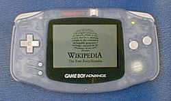 Game Boy Advance with Wikipedia logo.jpg