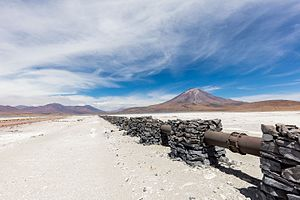 Pipeline transport - Gas pipe in the dry region of Antofagasta, Chile.