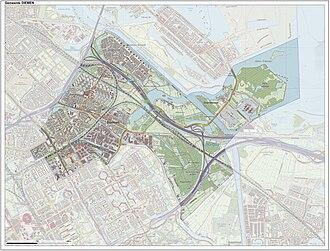 Diemen - 2015 Map of the municipality Diemen