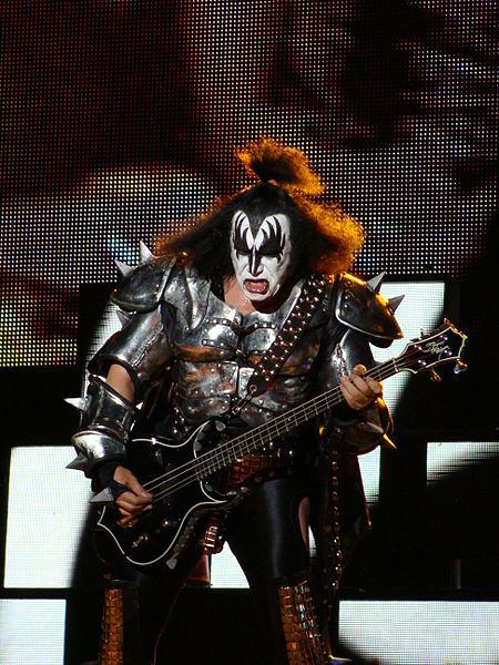 Gene Simmons Face Paint Template