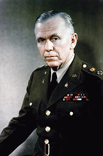 Marshall Plan - George C. Marshall, pictured here as a General of the Army before he became the U.S. Secretary of State. It was during his term as Secretary of State that he planned, campaigned for and carried out the Marshall Plan.