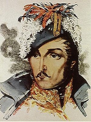 Francisco de Paula Santander - Water Color of General Santander by Master Santiago Martinez Delgado
