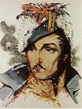 Francisco de Paula Santander - Water Color of General Santander by Master Santiago Martinez Delgado