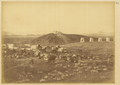General View of the Gukeichanza Station with a Citadel at Top of the Mountain, near Barkul. Xinjiang, China, 1875 WDL2062.png