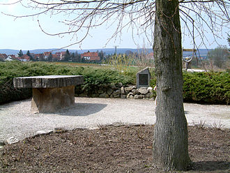 """Central Germany (geography) - """"Central point"""" in Niederdorla"""