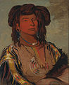 George Catlin - Ha-wón-je-tah, One Horn, Head Chief of the Miniconjou Tribe - Google Art Project.jpg