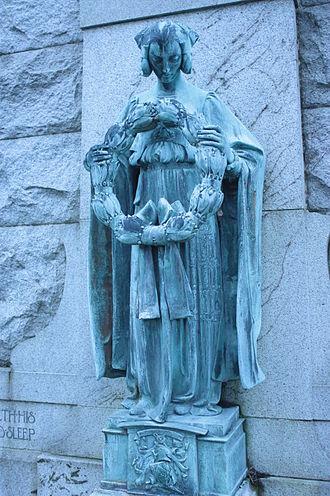 Dean Cemetery - George Frampton figure, Dean Cemetery