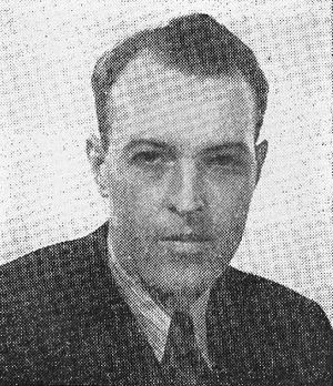 George Hicks (broadcast journalist) - George Hicks in a 1944 advertisement