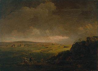 Moorland Landscape with Rainstorm