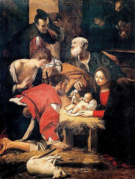 File:Giacomo Cavedone Adoración de los Pastores Museo del Prado. Madrid.jpeg