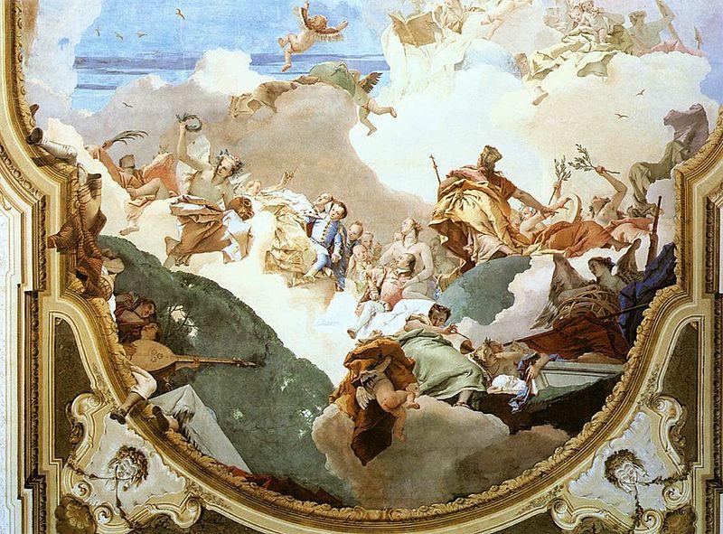 [peinture] Vos oeuvres préférées - Page 2 800px-Giovanni_Battista_Tiepolo_-_The_Apotheosis_of_the_Pisani_Family_%28detail%29_-_WGA22364