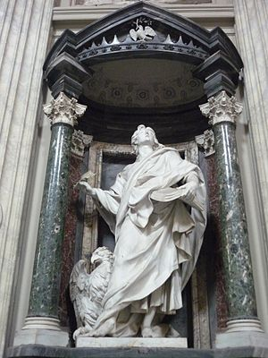 Basilica of St. John Lateran - statue of St. J...