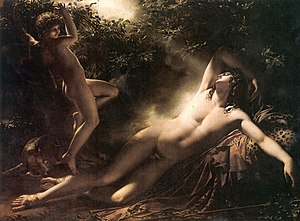 Endymion (mythology) - The Sleep of Endymion by Anne-Louis Girodet (1791), Musée du Louvre, Paris.
