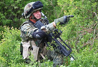 Croatian Army - Croatian soldier with VHS assault rifle.