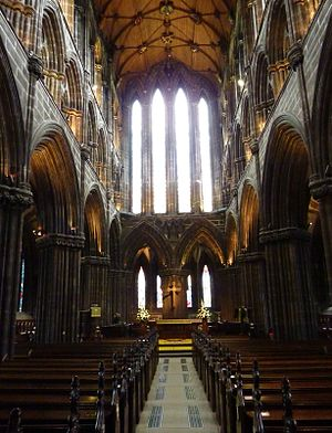 Treaty of Perpetual Peace - James IV ratified the treaty at the altar of Glasgow Cathedral on 10 December 1502