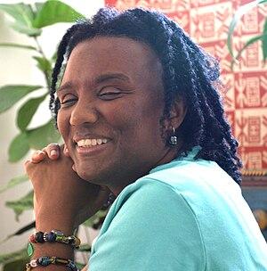 Harryette Mullen - Harryette Mullen, photo by Gloria Graham, taken during the video taping of Add-Verse, 2005