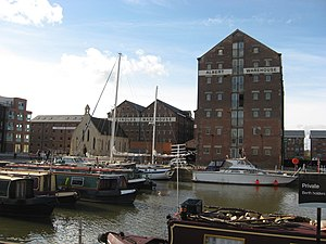 19th century warehouses at Gloucester docks.