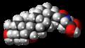 Glycochenodeoxycholic acid molecule spacefill.png