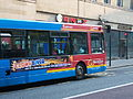 Go North East bus Superroute branding in Newcastle 3 April 2009.JPG