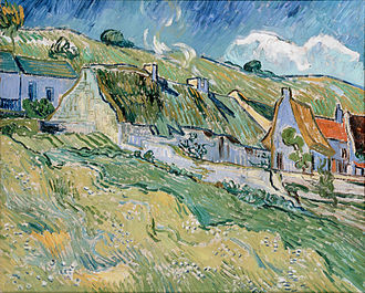 Wheat Fields (Van Gogh series) - Thatched Cottages, 1890, The Hermitage, St. Petersburg, Russia