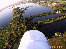 Вид на озёра с воздуха