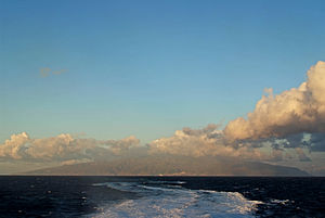 Blick von Osten auf La Gomera