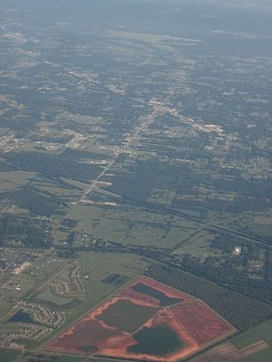 Gonzales, Louisiana - 2009 aerial photo of Gonzales