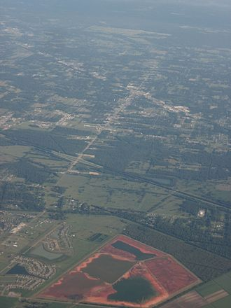 Gonzales, Louisiana - 2009 aerial photo of Gonzales