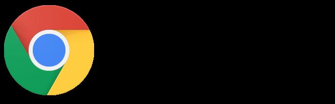Google Chrome logo and wordmark (2015)