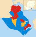 Gosport UK local election 2004 map.svg