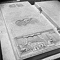 Grafsteen op de Joodse begraafplaats Beth Haïm op Curaçao., Bestanddeelnr 252-3243.jpg