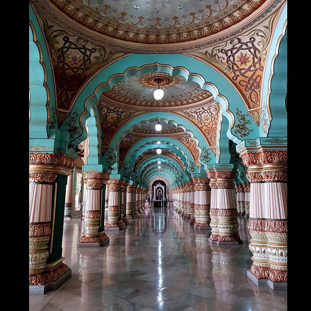 Grand Interiors of Mysore Palace