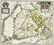 Map of Finland from 1662.