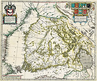 History of Finland - Map of Finland from 1662.