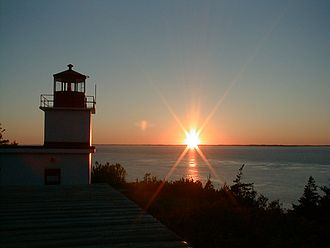 Grand Manan - Sunset at Whistle Light house, facing Maine, Grand Manan