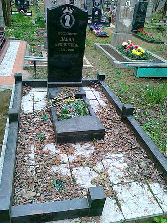 David Bronstein - Grave of Bronstein in Minsk, Belarus