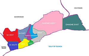 Greater Accra Region - Image: Greater Accra districts