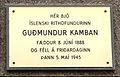 Guðmundur Kamban (mindeplade).JPG