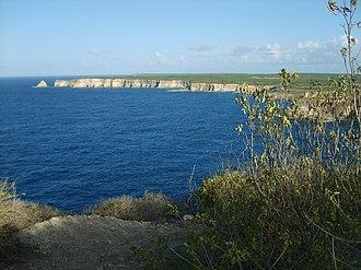 Pointe de la Grande Vigie - The cliffs at La Pointe de la Grande Vigie.